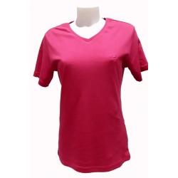 T-shirt femme en coton Stil Park fuschia