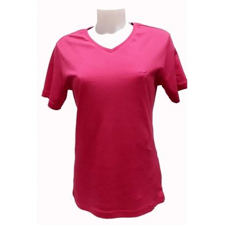 T-shirt femme en coton Stil Park fuschia-My Dressing
