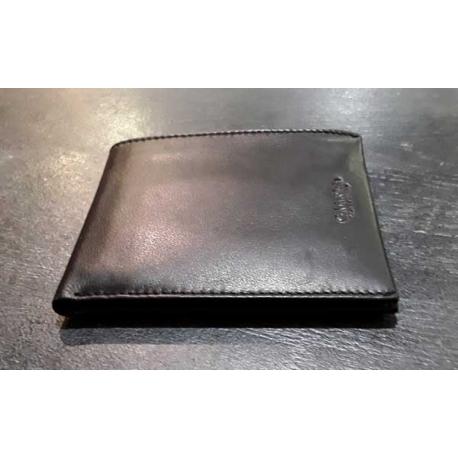 Calvin Klein portefeuille homme cuir noir-My Dressing