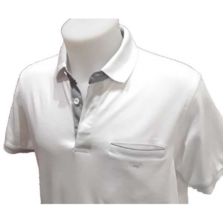 Polo Stil Park manches courtes blanc col chemise-My Dressing