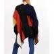 Poncho à carreaux en laine 3 couleurs