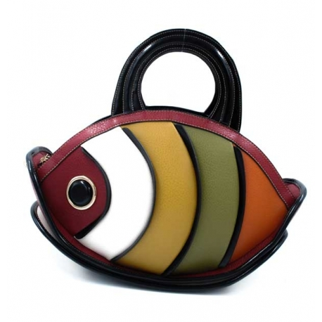 systyle sac à main et bandoulière en forme de poisson