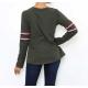 T-shirt femme manches longues imprimé plumes-My Dressing