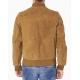 Blouson zippé en suédine couleur camel clair 2 poches-My Dressing