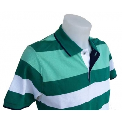 Polo homme Stil Park manches courtes maille piquée vert