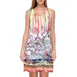 Sweet Miss robe imprimée droite fond blanc