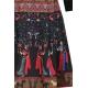 Sweet Miss-Robe courte pantineuse noire à imprimée ethnique-My Dressing