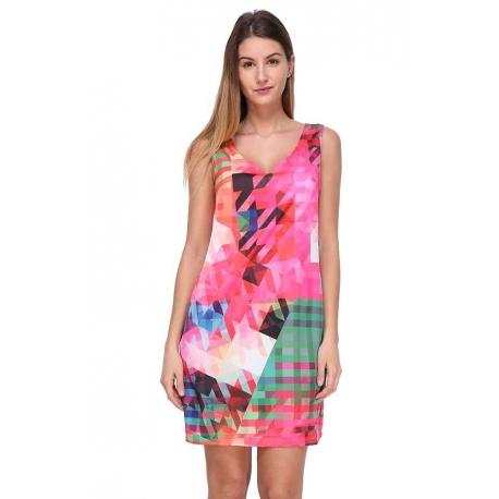 Robe Sweet Miss colorée en viscose satin-robe My Dressing