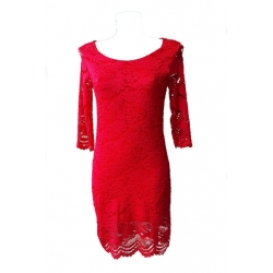 Robe en dentelle rouge- My Dressing