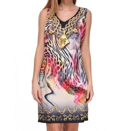 Sweet Miss robe droite très colorée légère-My Dressing