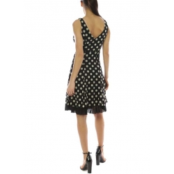 Lulu H Robe noire et blanche à pois-My Dresssing