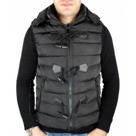 Doudoune noire sans manches homme-My Dressing
