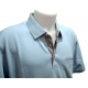 Polo homme Stil Park grande taille manches courtes bleu ciel-My Dressing