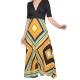 Sweet Miss robe longue à motifs géométriques