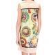 Robe courte en satin viscose motifs Mosaïques-My Dressing