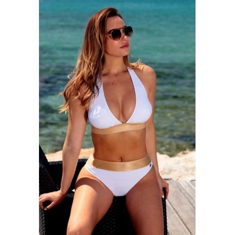 Maillot de bain femme Ocean Wear forme triangle blanc-My Dressing