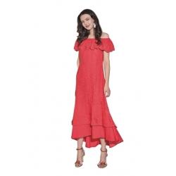 Sweet Miss robe longue rouge épaules nues Pénélope