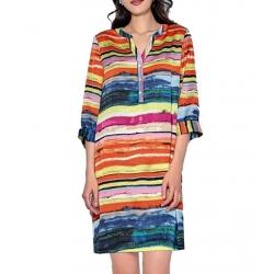 Robe chemise femme colorée avec manches Sweet Miss