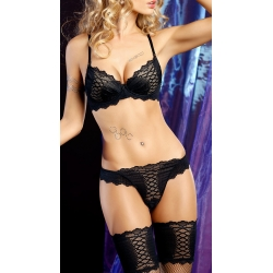 Ensemble de lingerie noire Catch Me