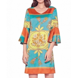 Sweet Miss Robe courte turquoise à manches