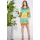 Sweet Miss Robe courte turquoise à manches My Dressing