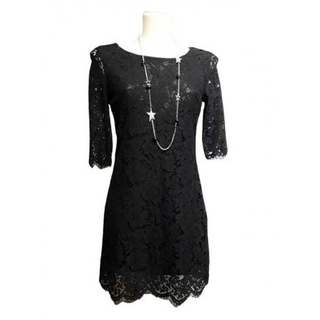 Sweet Miss Robe en dentelle noire-My Dressing