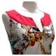 Robe Sweet Miss en coton forme trapèze blanche et rouge
