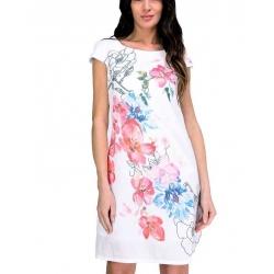 Sweet Miss Robe blanche courte à manches fleurie