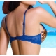 Ensemble lingerie push up bleu Axami