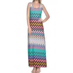 Sweet Miss Robe longue multicolore ZIG ZAG