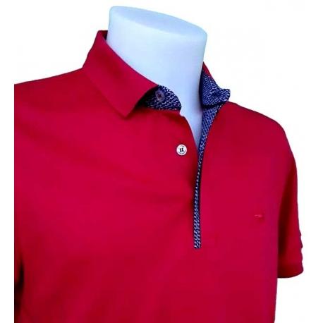 Polo rouge Stil Park manche courte col chemise