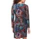 Sweet Miss Robe droite bleu avec manches et motifs-MyDressing