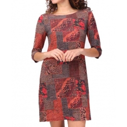 Sweet Miss Robe hiver avec manches motifs rouge