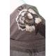 Robe courte maille avec manches longues en résille