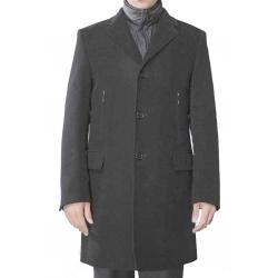 Yves St Laurent manteau homme en laine gris