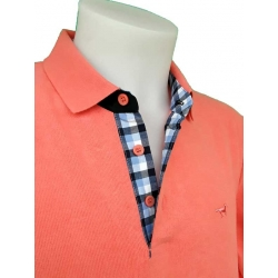 Stil Park polo orange corail manche longue