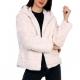 Manteau fourrure femme blanche à capuche
