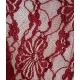 Echarpe rouge bordeaux en viscose motifs fleurs