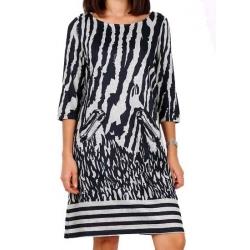 Lulu H Robe noire et blanche courte