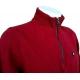 Polo homme Stil Park rouge manches longues col montant zippé