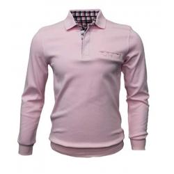 Stil Park-polo manche longue avec poche rose
