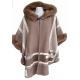 Manteau cape femme couleur taupe