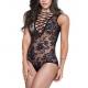 modele lingerie sexy transparent noir