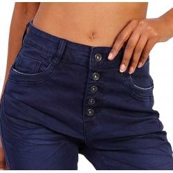 Toxik3 Jeans femme taille haute à boutons