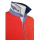 Polo Stil Park orange manches courtes col marine poisson-My Dressing