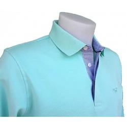Stil Park Polo vert aqua manches longues col chemise