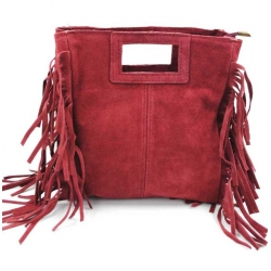 Sac cuir franges Systyle