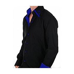 Chemise noir/bleu