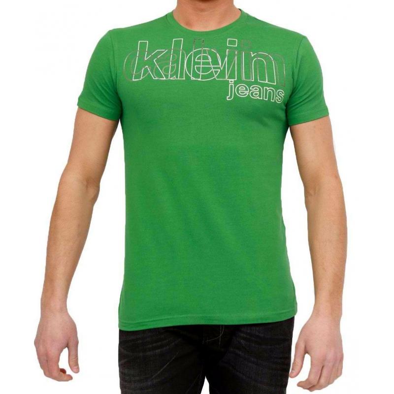 T shirt calvin klein homme manches courtes vert - Tee shirt manche longue calvin klein ...