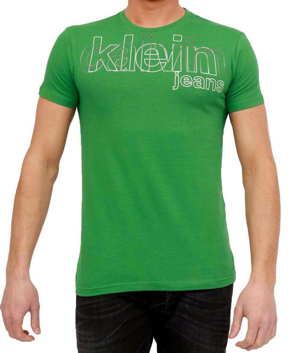 Coupe Shirt Courtes Manches Vert T Ajustée Homme Calvin Klein daC0nCq6w